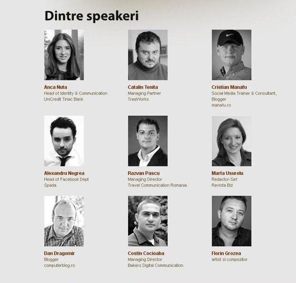 SMS Bucuresti - speakeri.